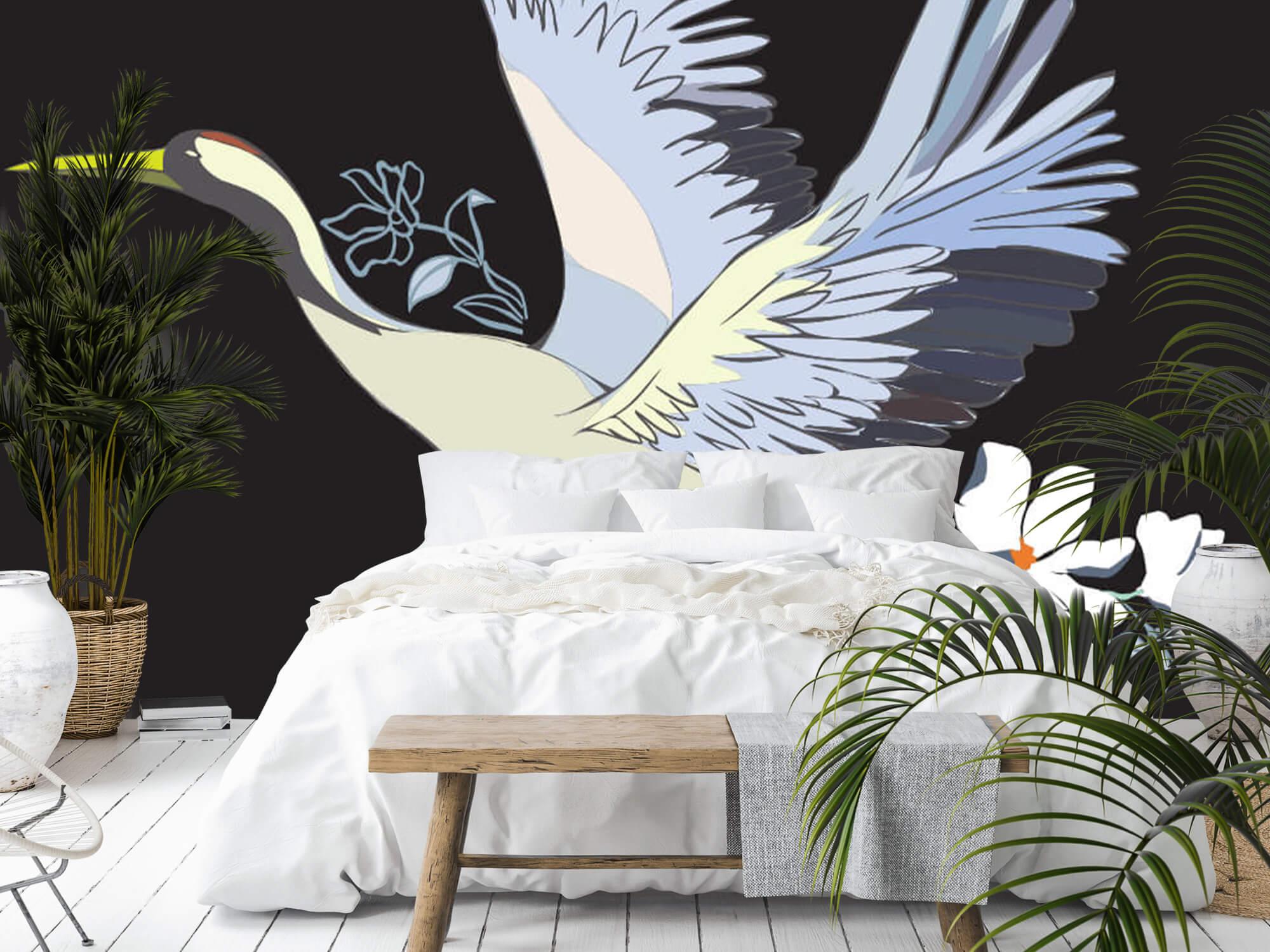 pattern Geverfde kraanvogel 8