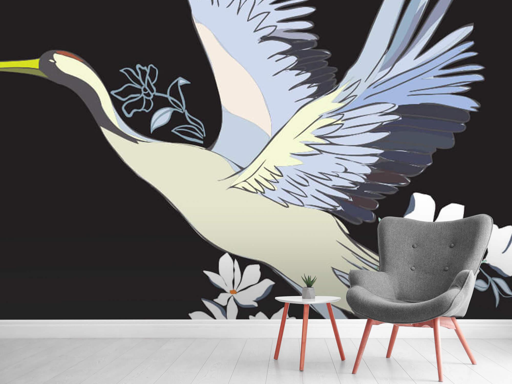 pattern Geverfde kraanvogel 7