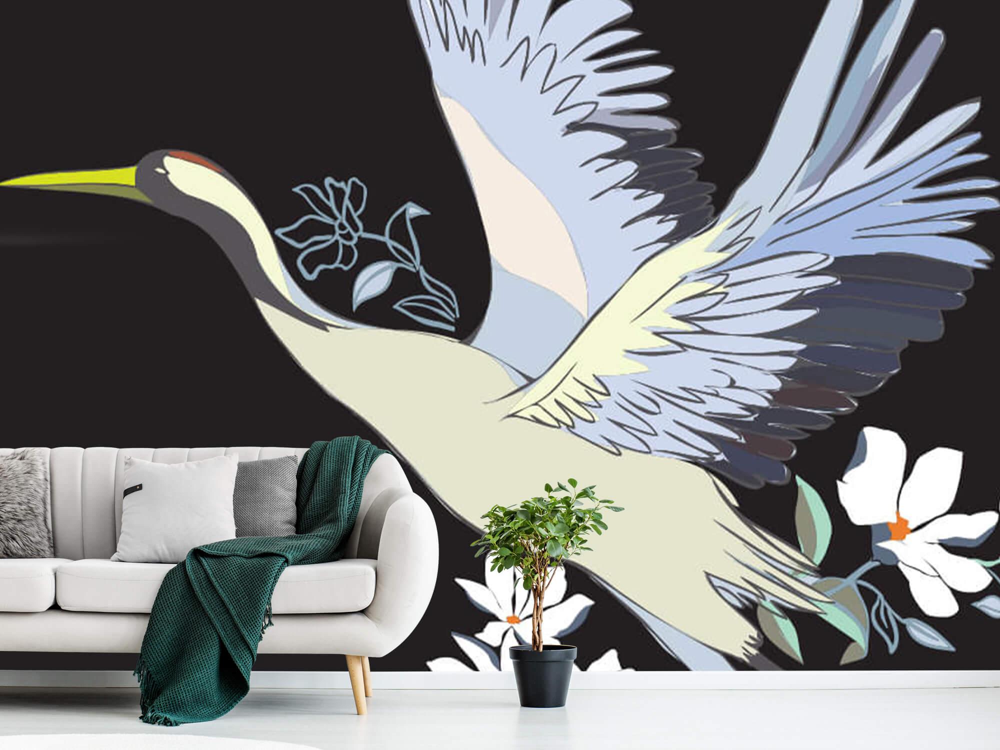 pattern Geverfde kraanvogel 9