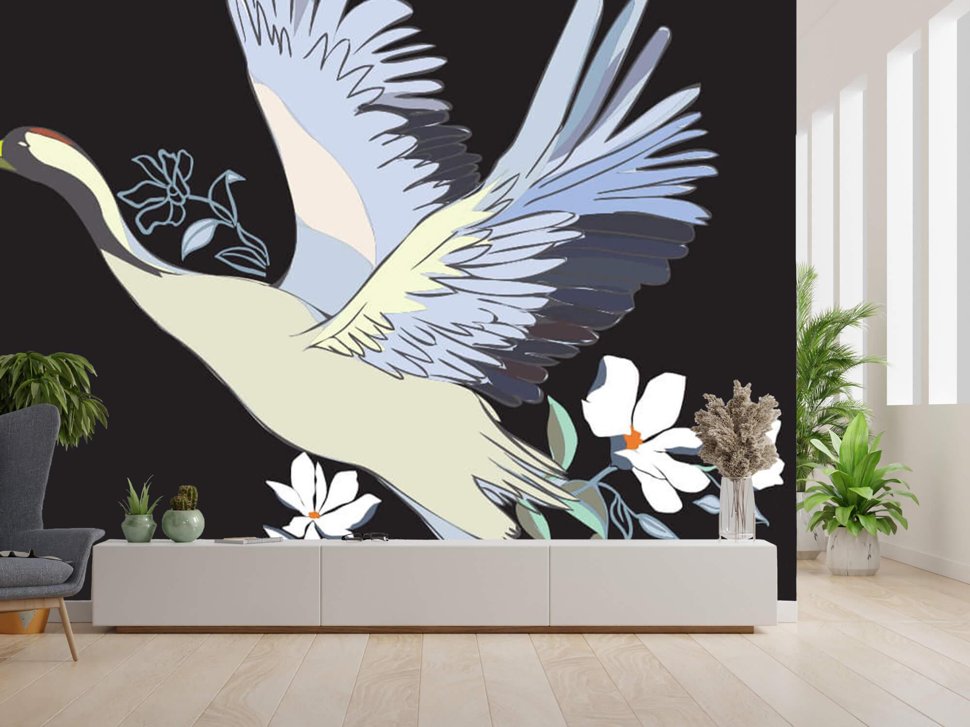 pattern Geverfde kraanvogel 11