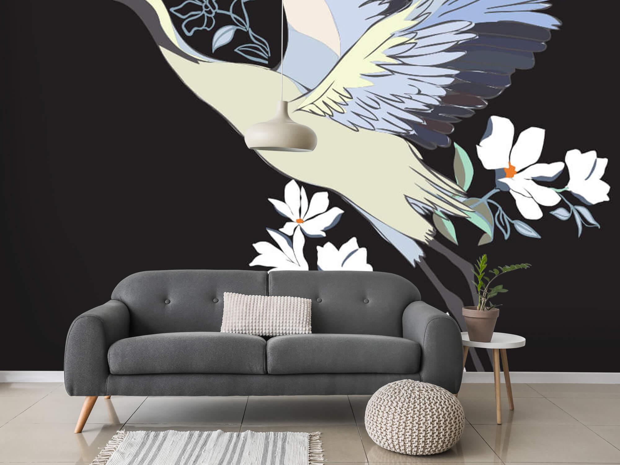 pattern Geverfde kraanvogel 10
