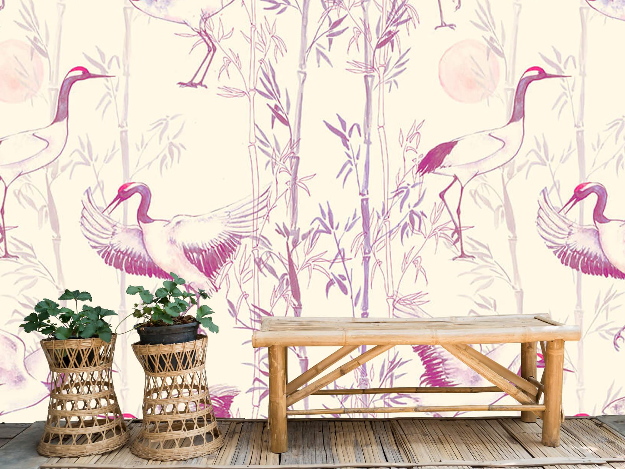 Kraanvogels en bamboe 2