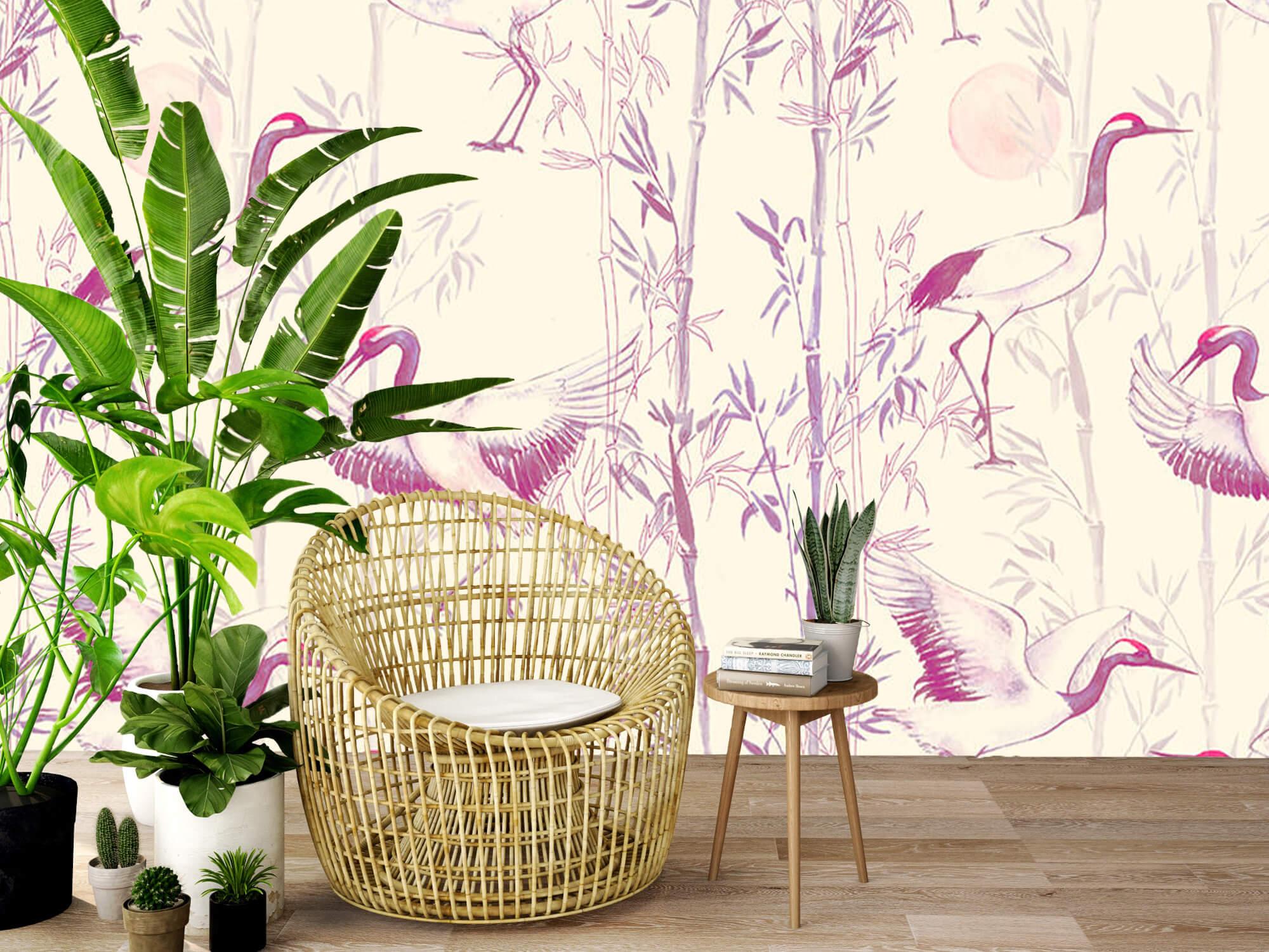 Kraanvogels en bamboe 7