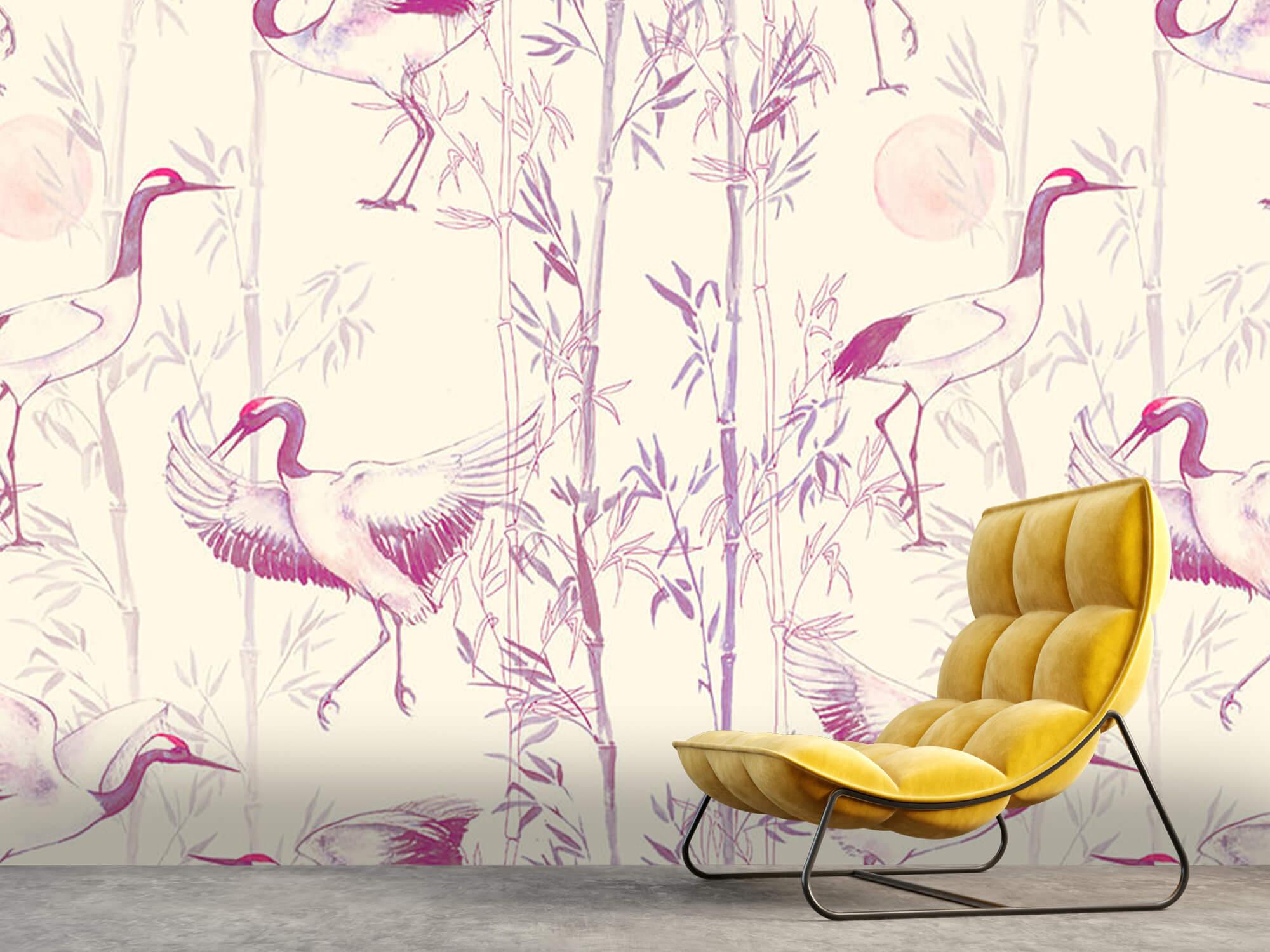 Kraanvogels en bamboe 4