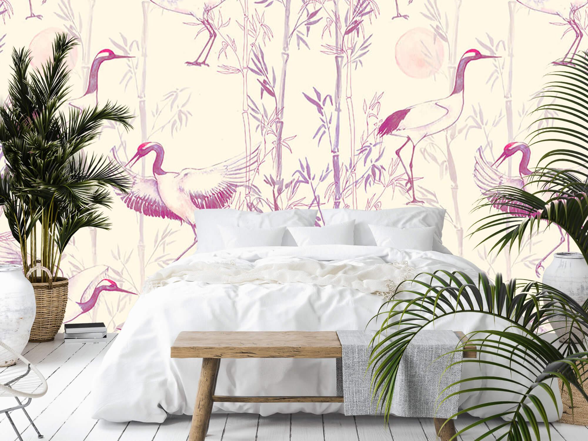 Kraanvogels en bamboe 3