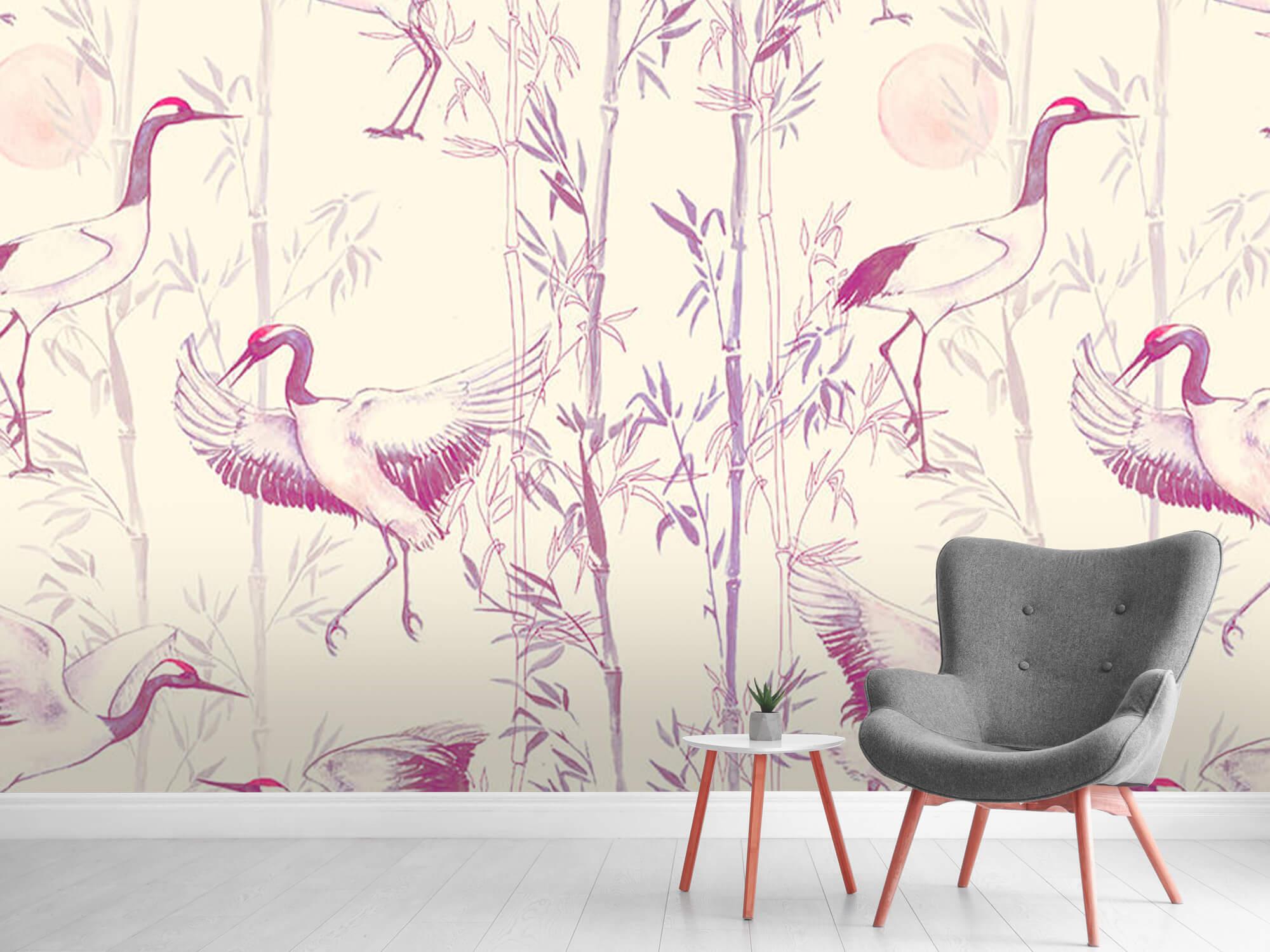Kraanvogels en bamboe 9