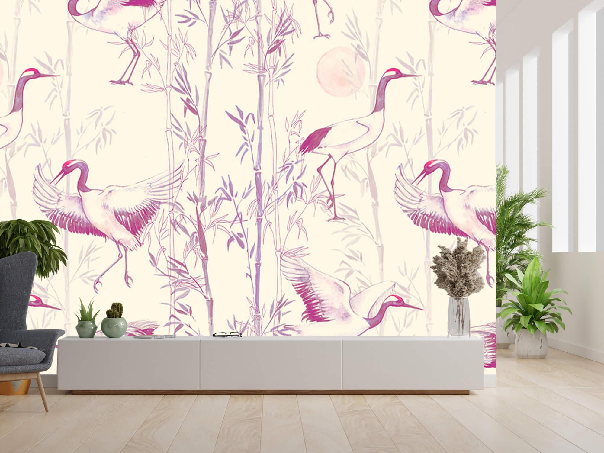Kraanvogels en bamboe 6