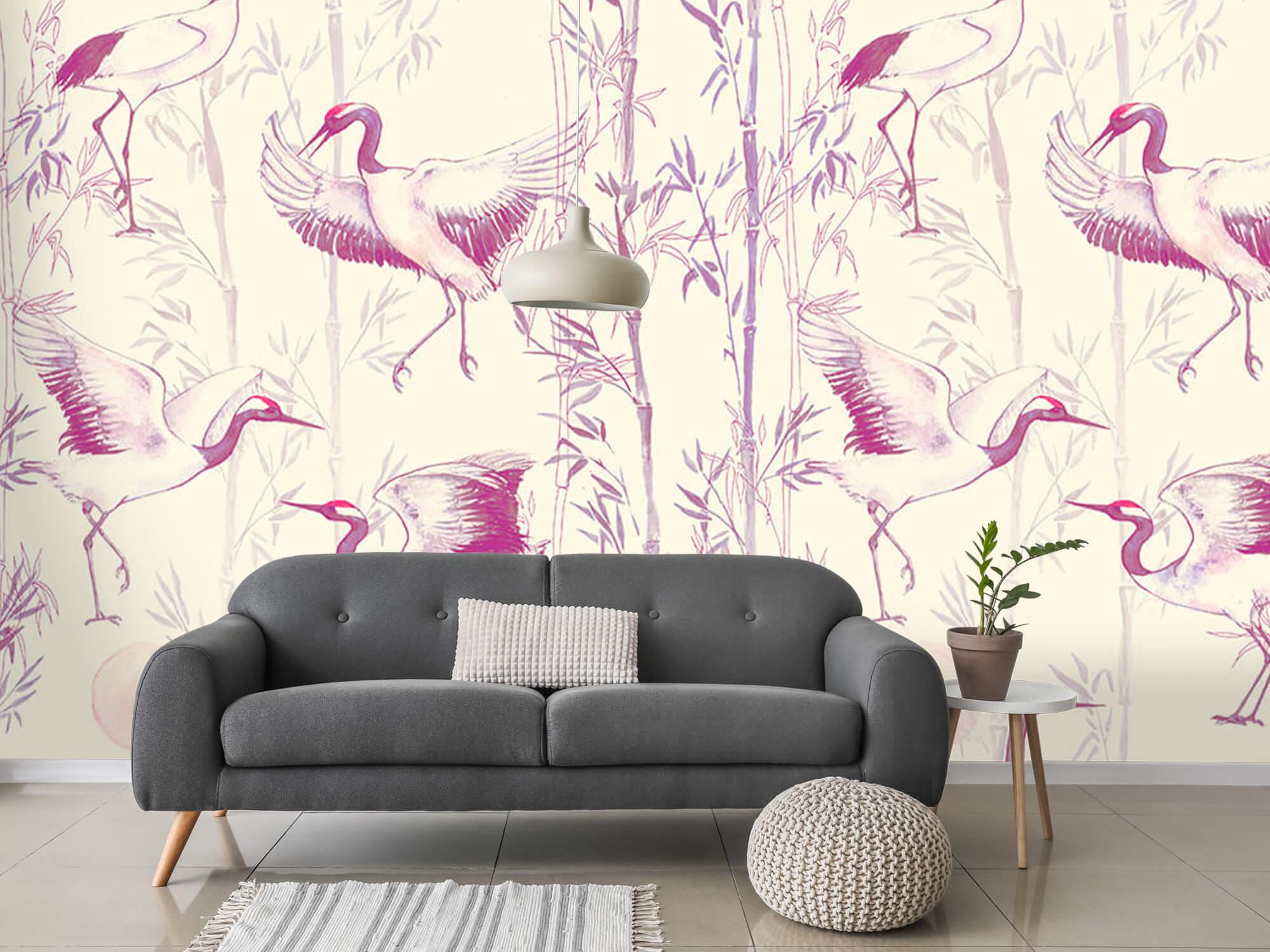 Kraanvogels en bamboe 1
