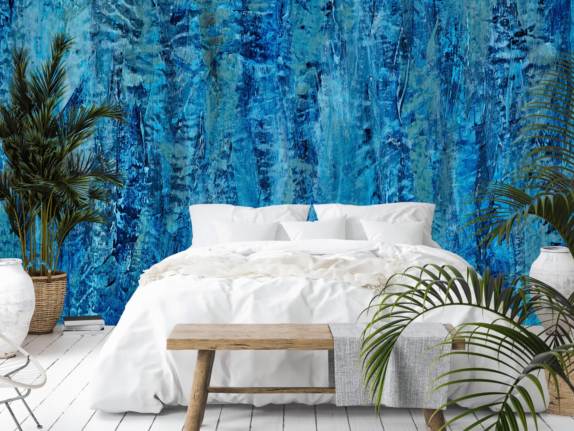 Art Schilderij met blauwtinten 8