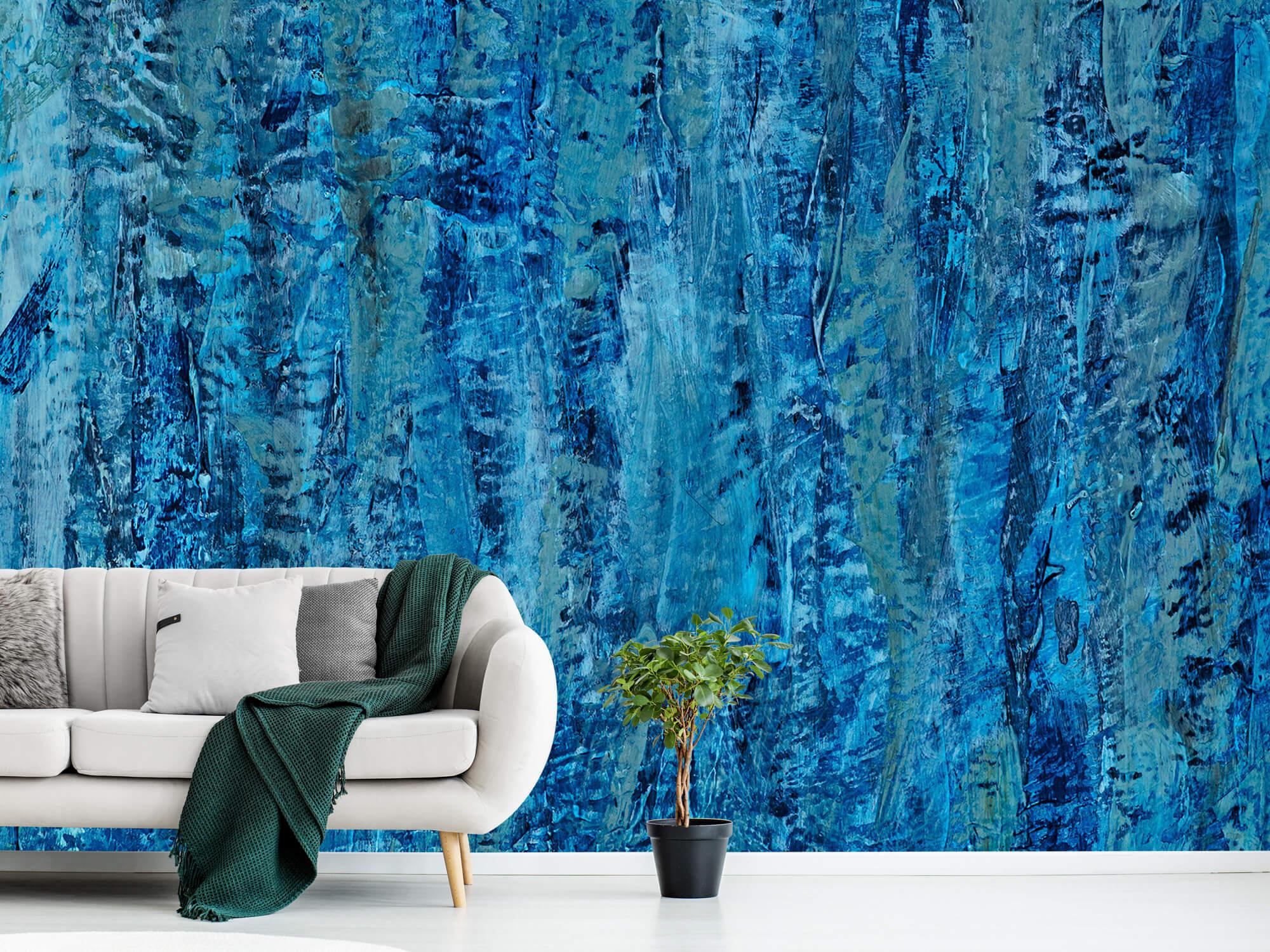 Art Schilderij met blauwtinten 9