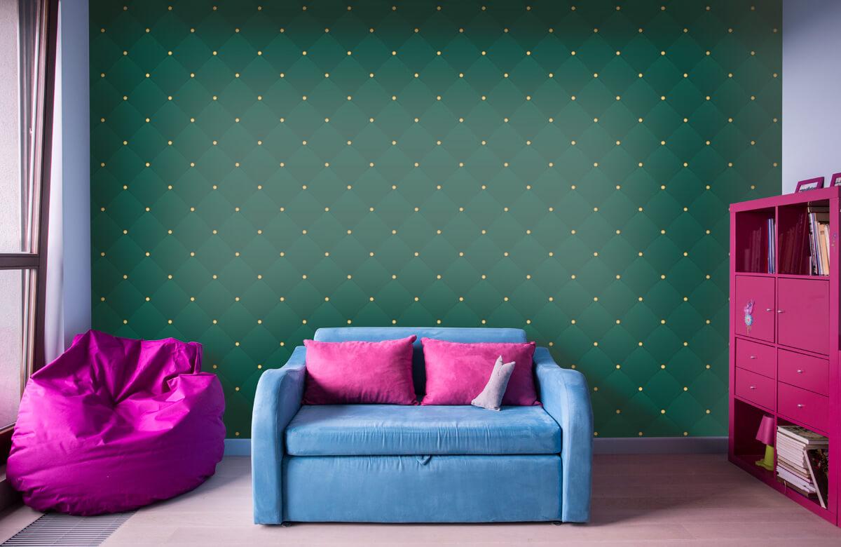 pattern Donkergroen chesterfield patroon 11