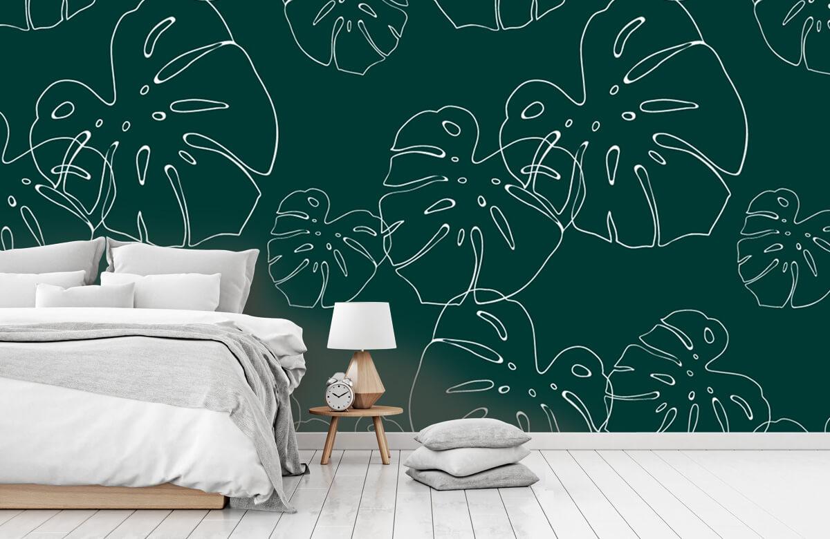 pattern Tropisch blad 3