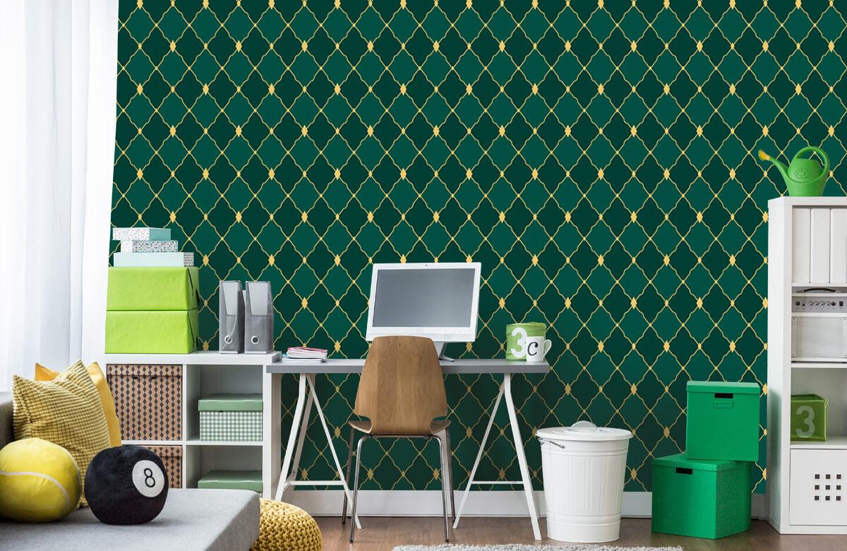 pattern Groene ruitjes 8