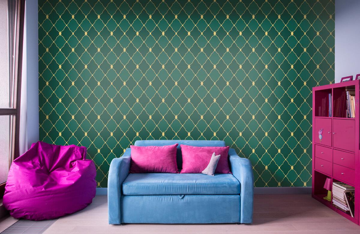 pattern Groene ruitjes 11