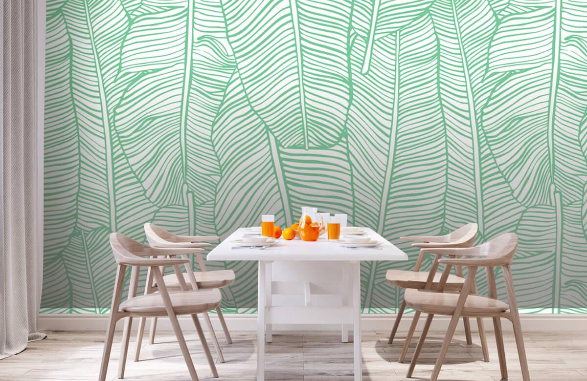 pattern Bladpatroon groen 1