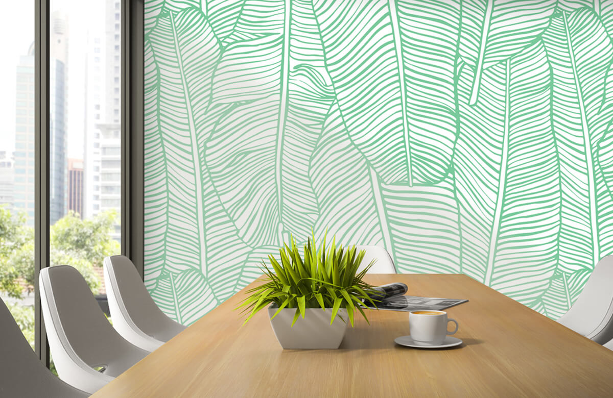 pattern Bladpatroon groen 2