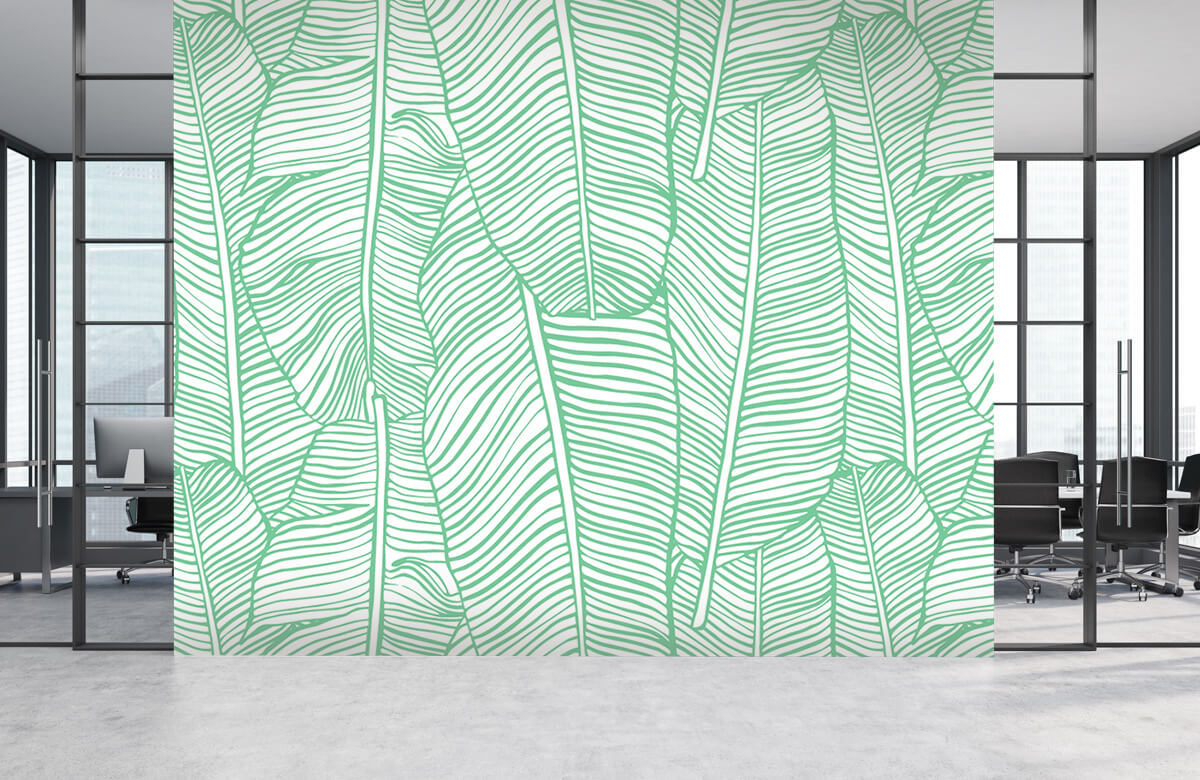 pattern Bladpatroon groen 3