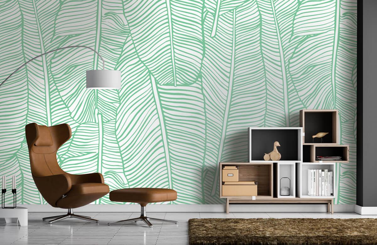 pattern Bladpatroon groen 4