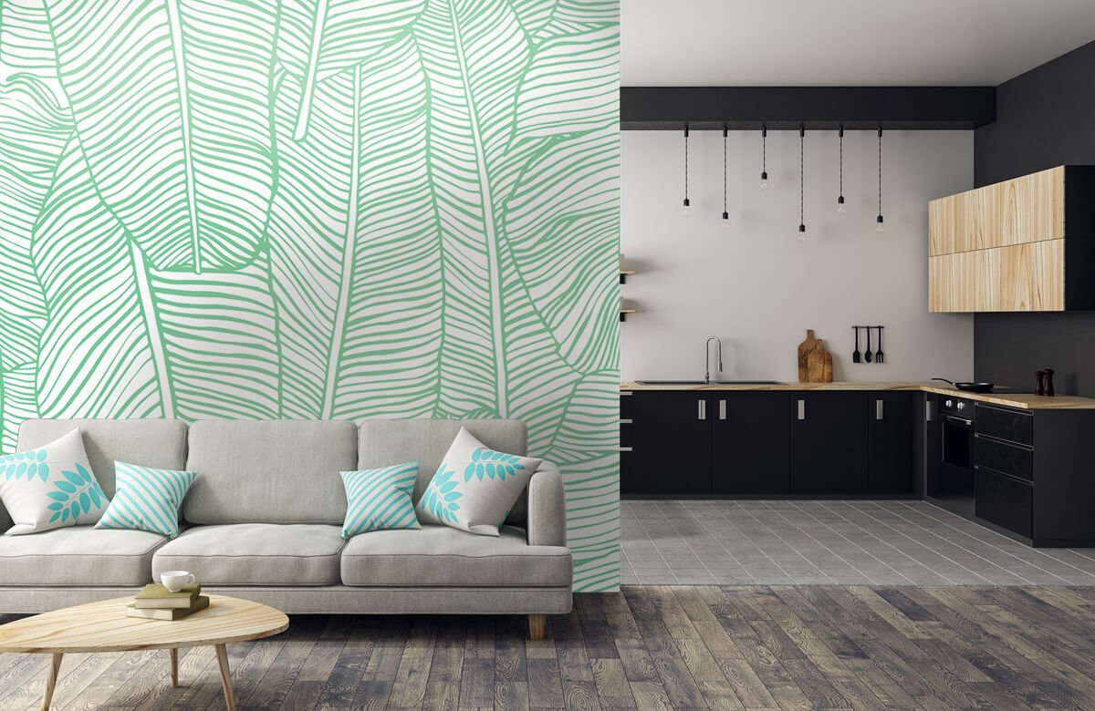 pattern Bladpatroon groen 5