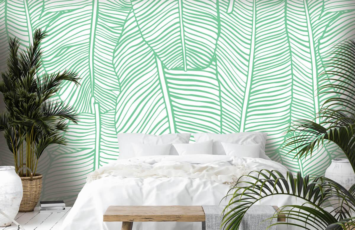 pattern Bladpatroon groen 6
