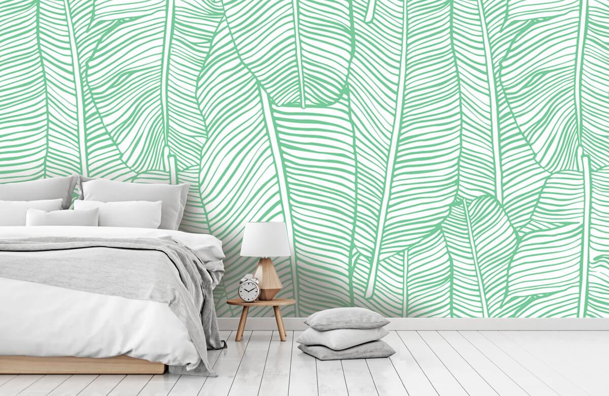 pattern Bladpatroon groen 7