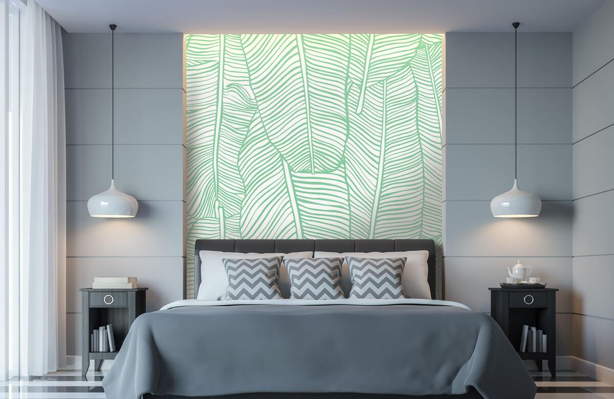 pattern Bladpatroon groen 8