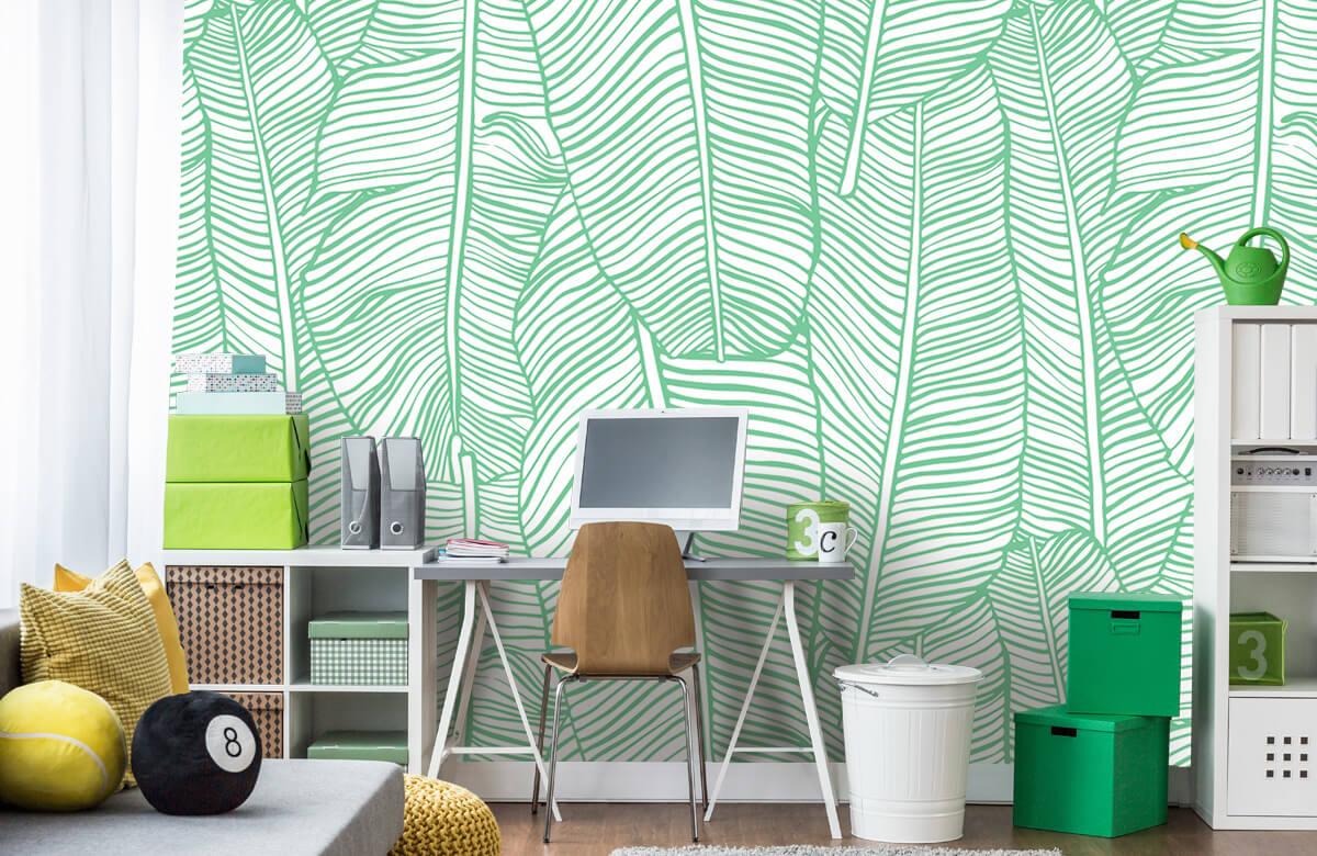 pattern Bladpatroon groen 9