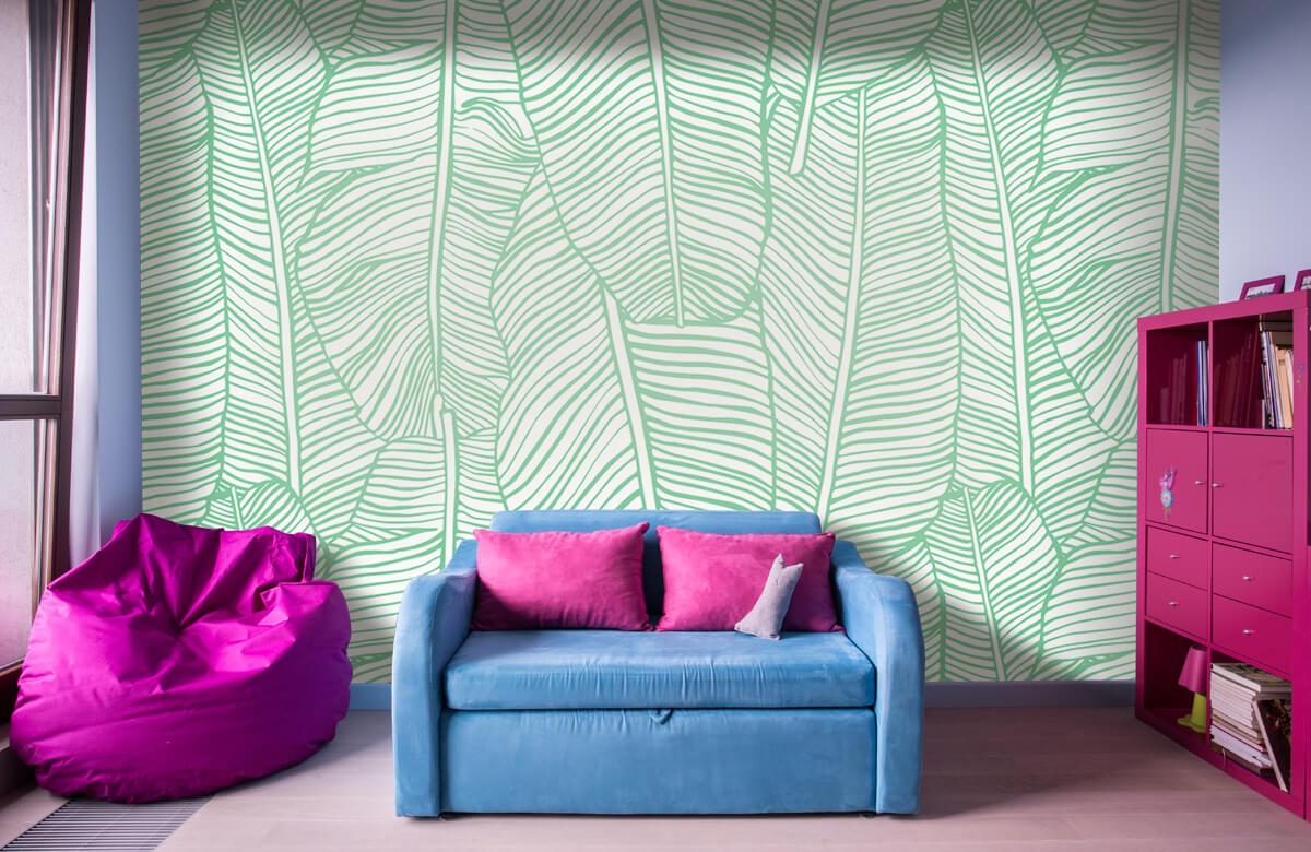 pattern Bladpatroon groen 10