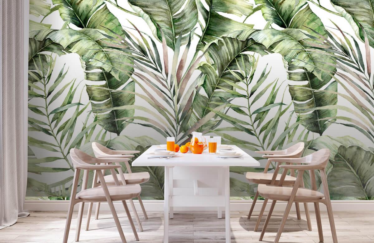 pattern Groene palmbladeren patroon 2