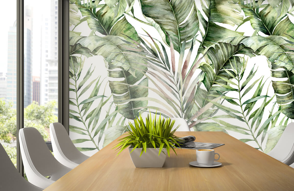 pattern Groene palmbladeren patroon 1