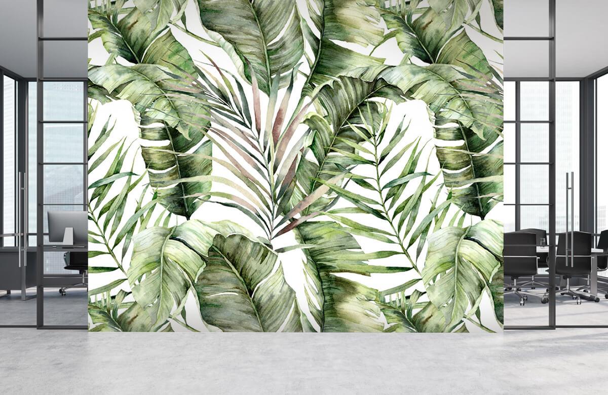 pattern Groene palmbladeren patroon 3