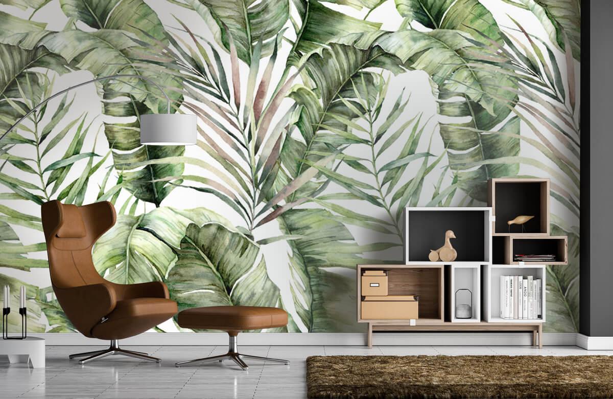 pattern Groene palmbladeren patroon 5