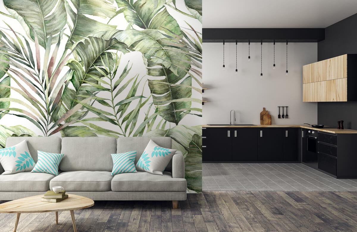 pattern Groene palmbladeren patroon 6