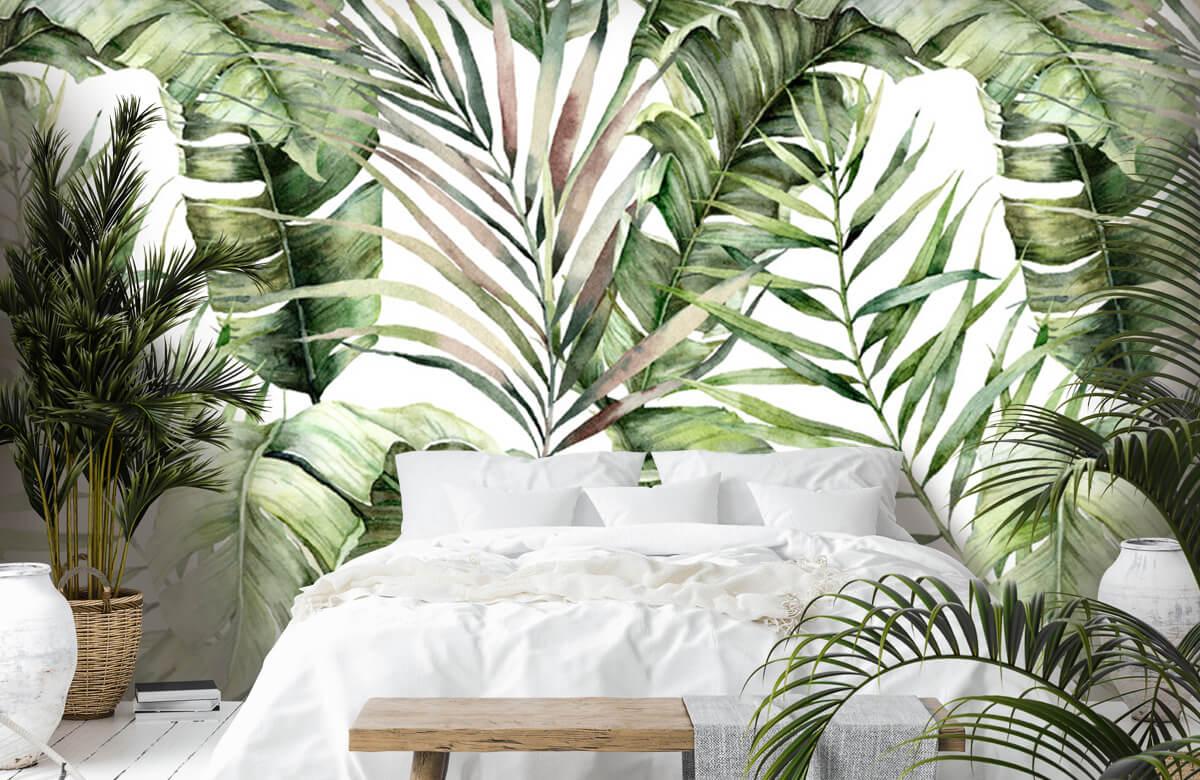 pattern Groene palmbladeren patroon 4