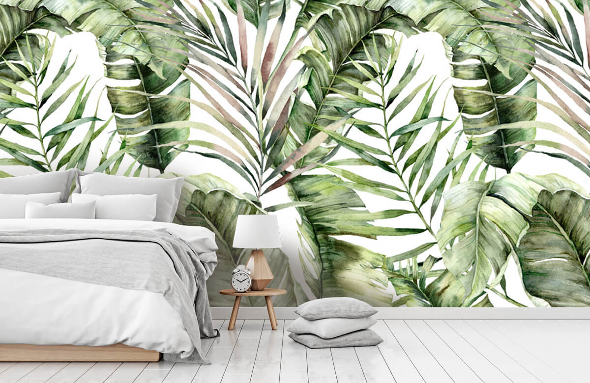pattern Groene palmbladeren patroon 7