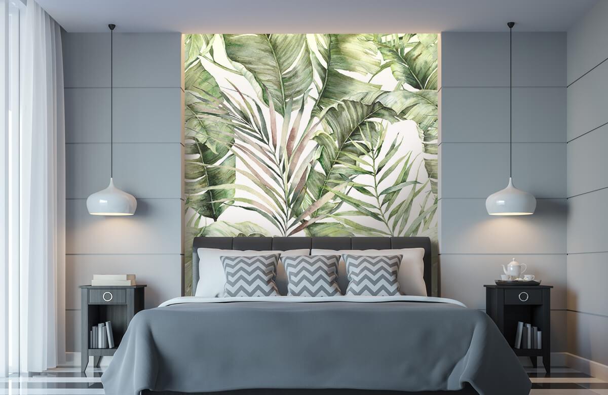 pattern Groene palmbladeren patroon 9