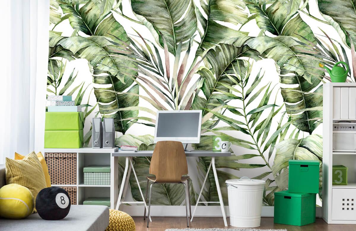 pattern Groene palmbladeren patroon 8