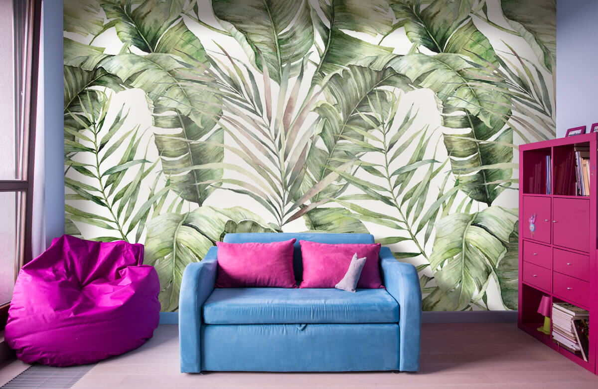pattern Groene palmbladeren patroon 10