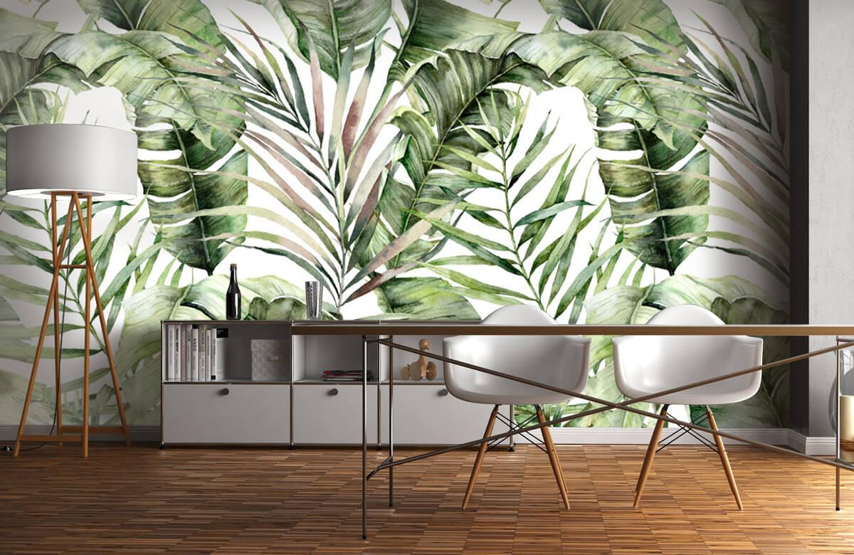 pattern Groene palmbladeren patroon 11