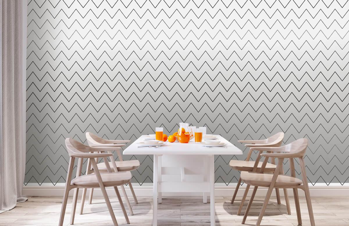 pattern Geometrische lijnen, wit 1
