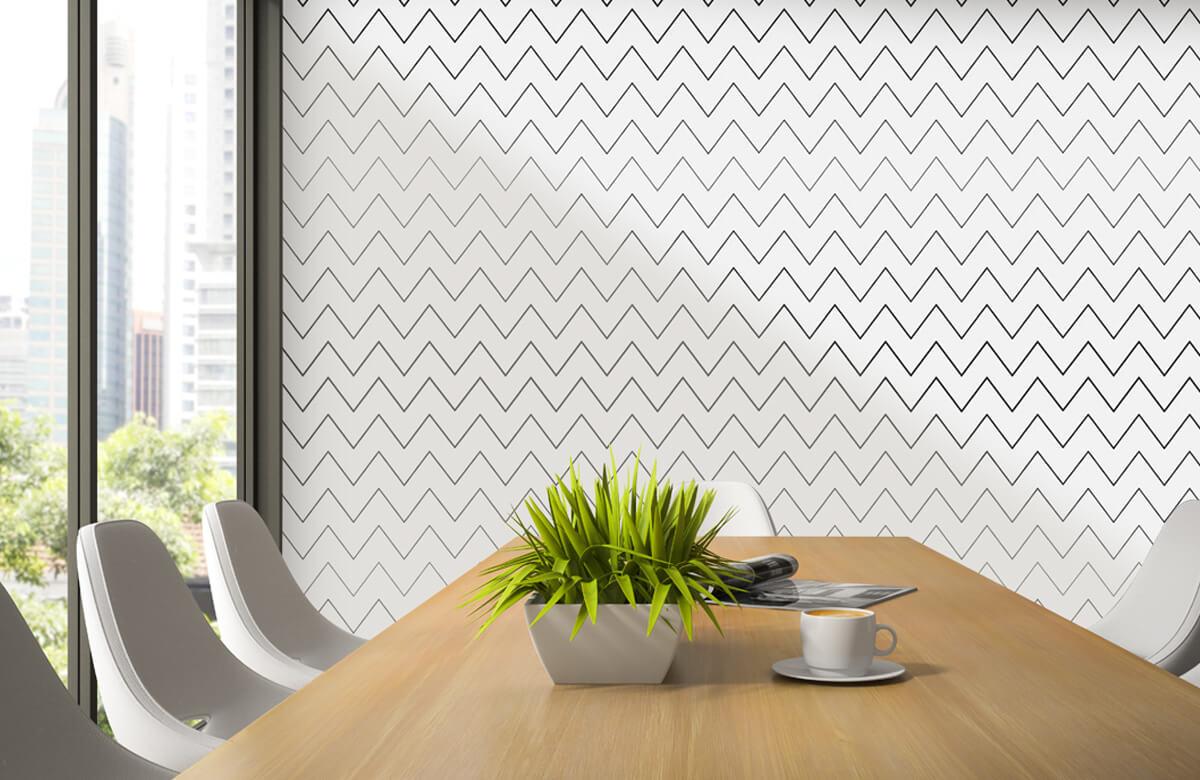 pattern Geometrische lijnen, wit 3