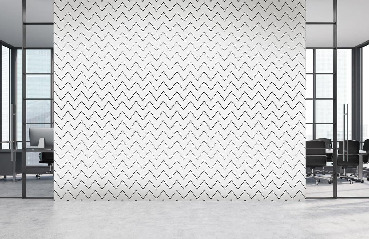 pattern Geometrische lijnen, wit 5