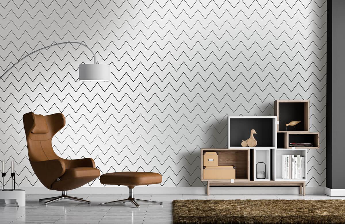 pattern Geometrische lijnen, wit 6