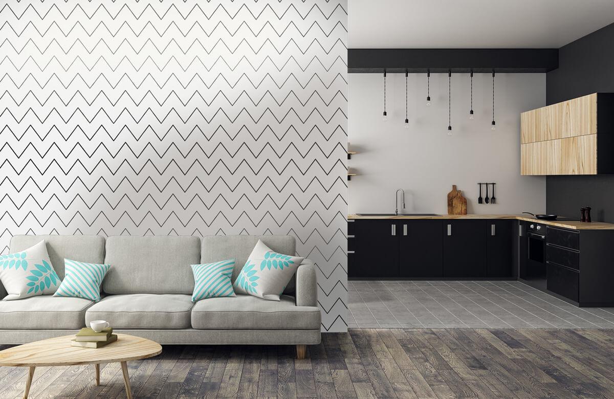 pattern Geometrische lijnen, wit 8