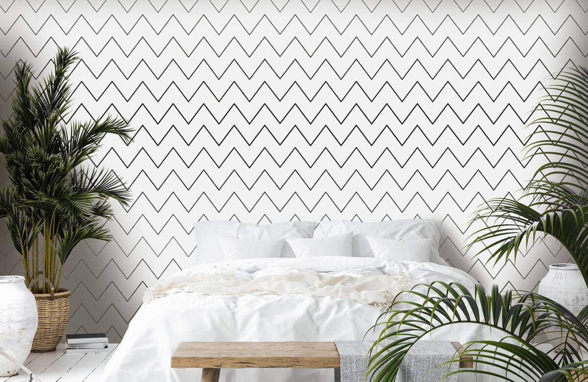 pattern Geometrische lijnen, wit 9