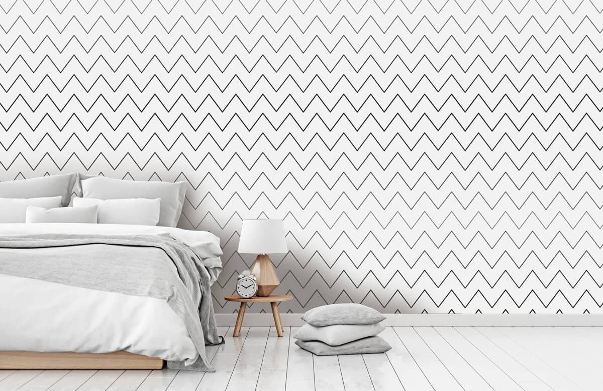 pattern Geometrische lijnen, wit 10