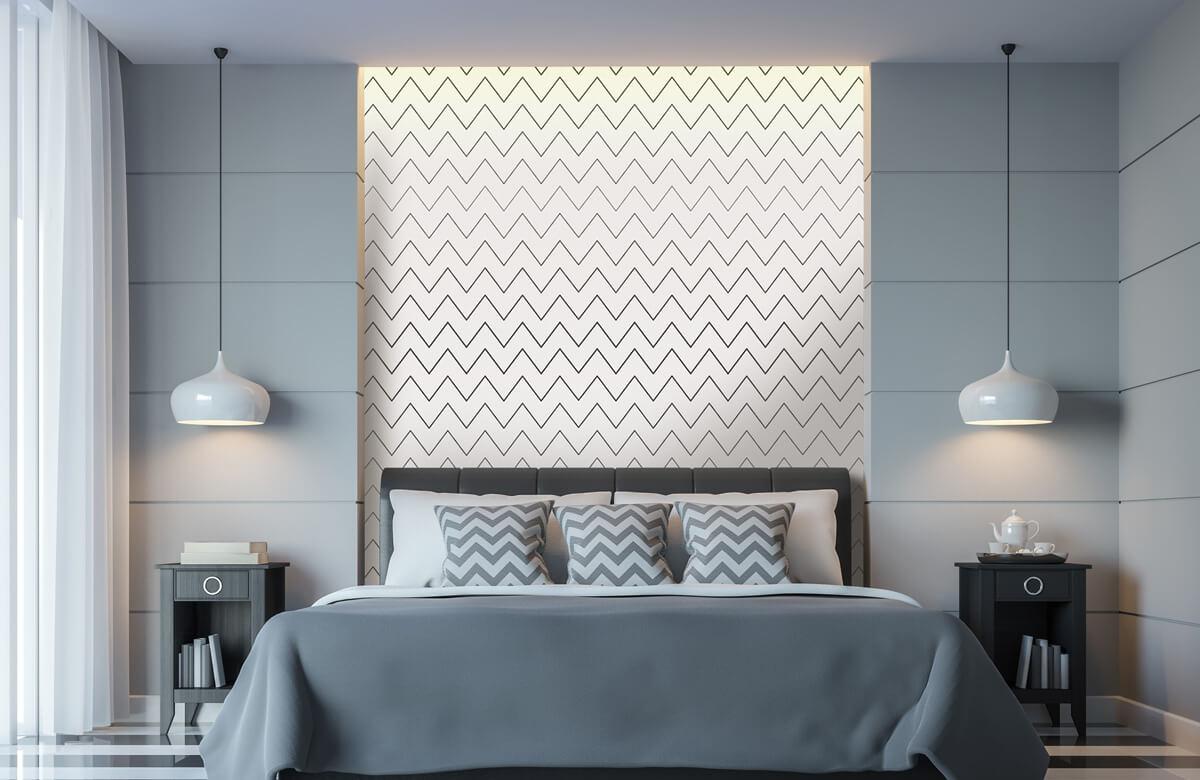 pattern Geometrische lijnen, wit 2