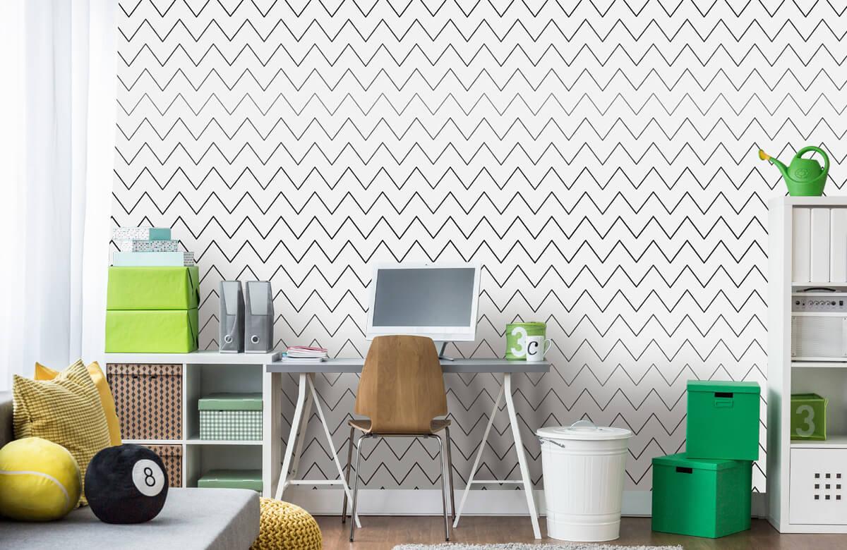 pattern Geometrische lijnen, wit 11