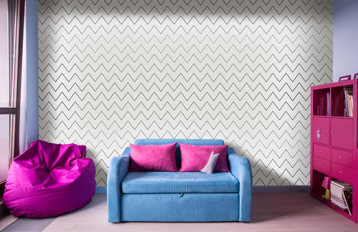 pattern Geometrische lijnen, wit 4