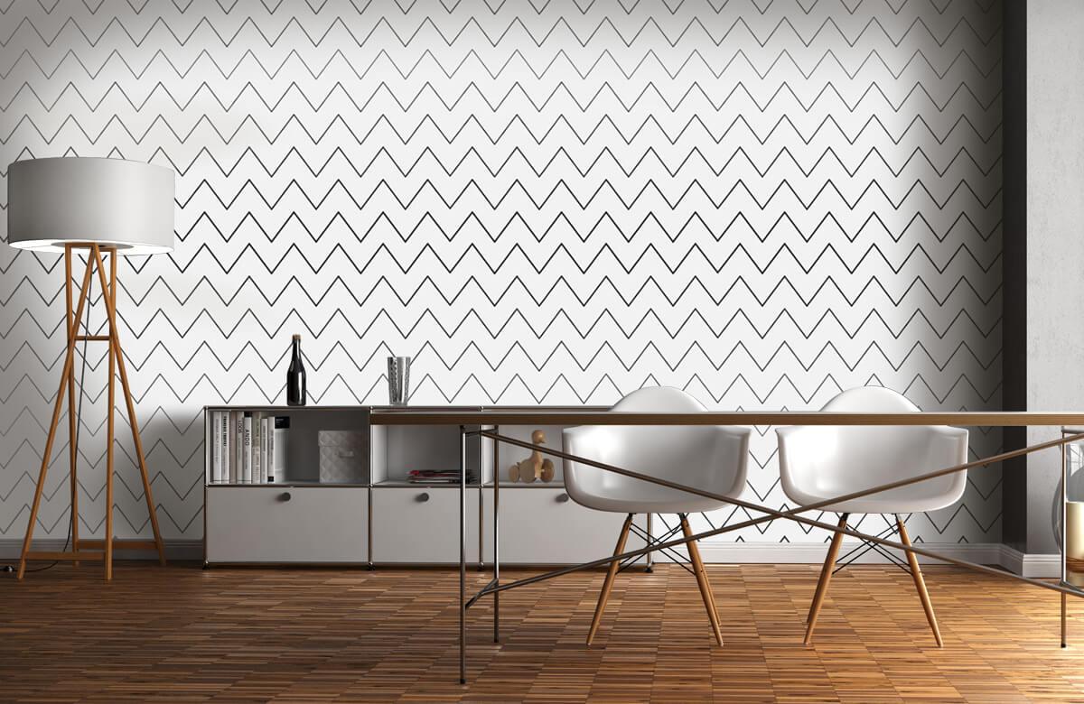 pattern Geometrische lijnen, wit 7